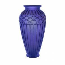 "Ваза для цветов ""Rythmes"" синяя (h=51) Daum 03548-2"