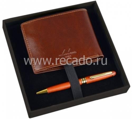 Набор: портмоне, ручка шариковая Alessandro Venanzi 28586