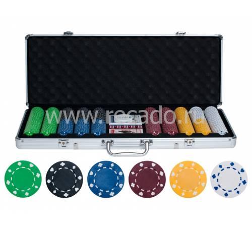 Набор для покера на 500 фишек без номинала bez500