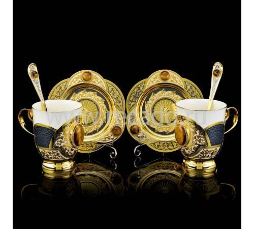 Кофейный набор на 2 персоны Златоуст RV0042478CG