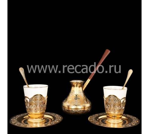 """Набор кофейный с туркой """"На двоих"""" Златоуст RV8608CG"""