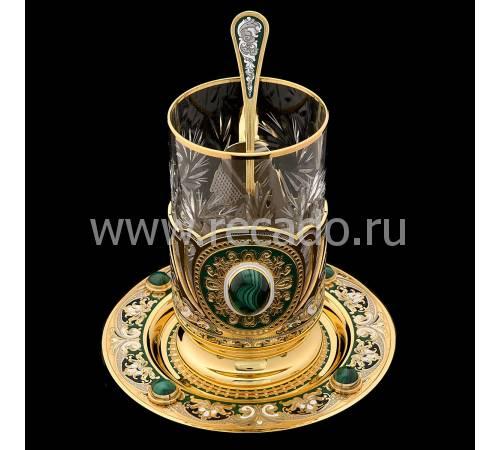 """Чайный набор """"Малахитовый"""" Златоуст RV0050690CG"""