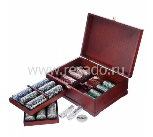Набор для покера: 500 фишек, колода, кости RV0050704CG