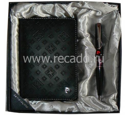 Набор: ручка шариковая, обложка для паспорта 411138